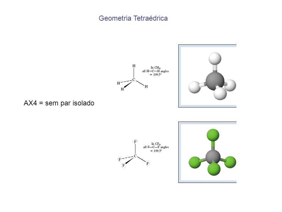 Geometria Tetraédrica AX4 = sem par isolado