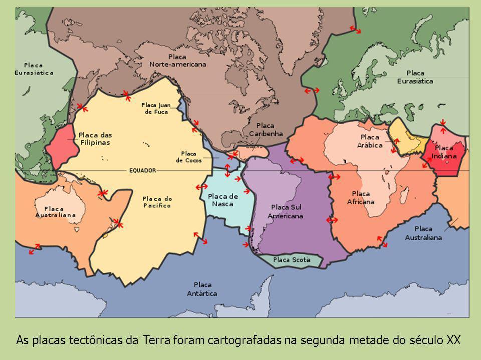 As placas tectônicas da Terra foram cartografadas na segunda metade do século XX