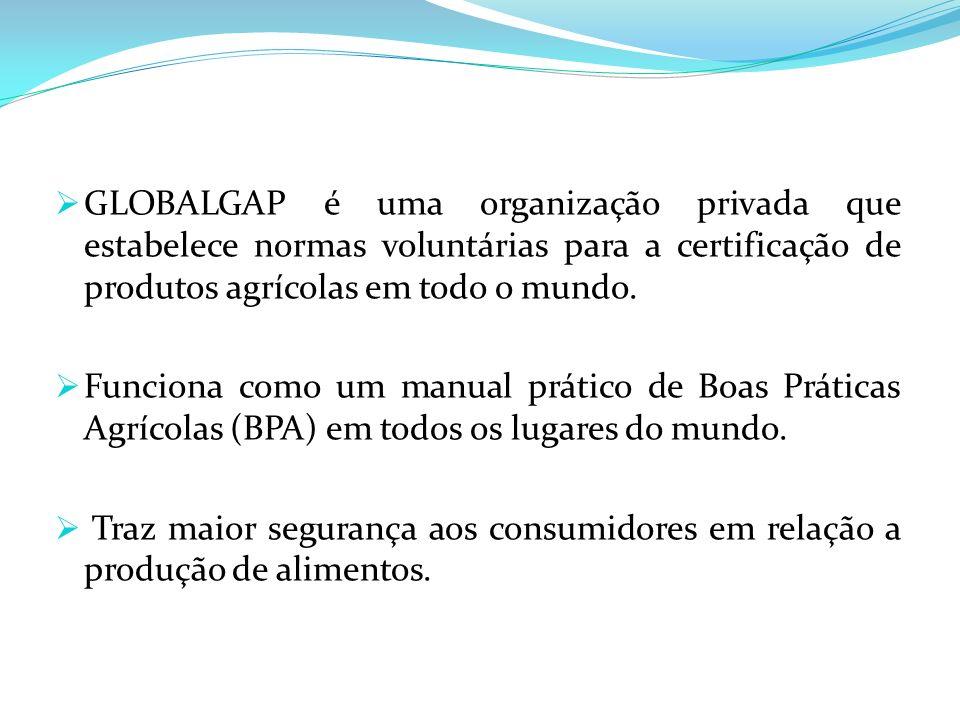 GLOBALGAP é uma organização privada que estabelece normas voluntárias para a certificação de produtos agrícolas em todo o mundo. Funciona como um manu