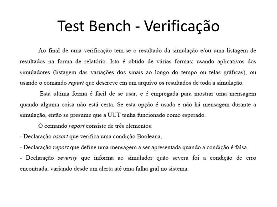 Test Bench - Verificação