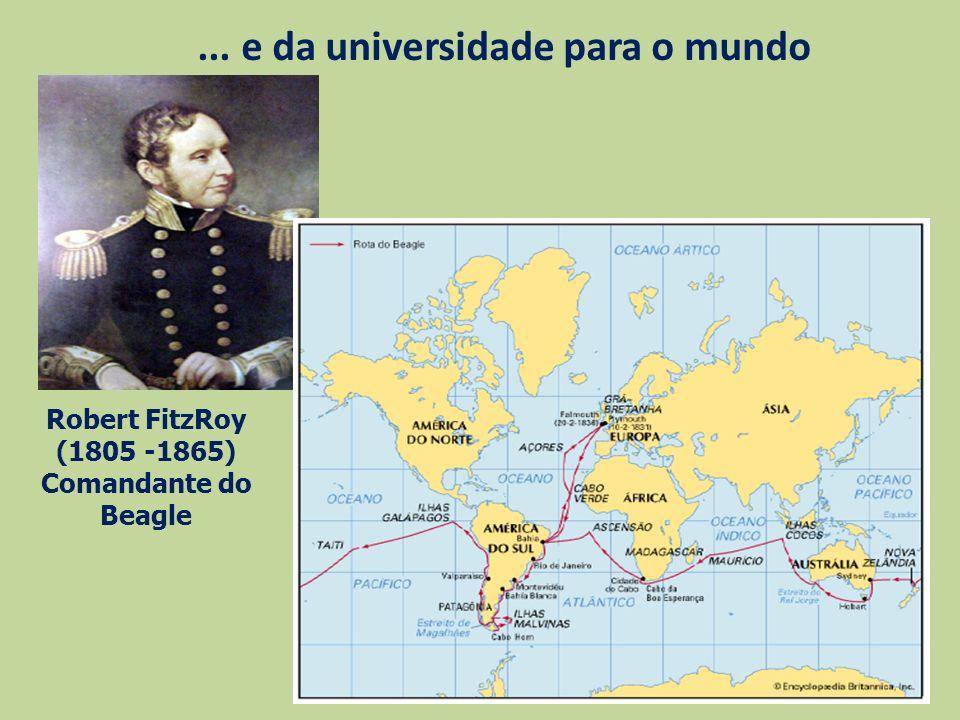 ... e da universidade para o mundo Robert FitzRoy (1805 -1865) Comandante do Beagle