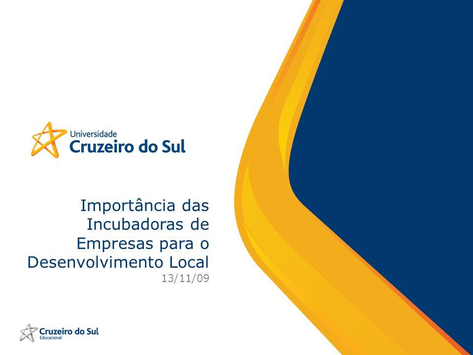 Importância das Incubadoras de Empresas para o Desenvolvimento Local 13/11/09