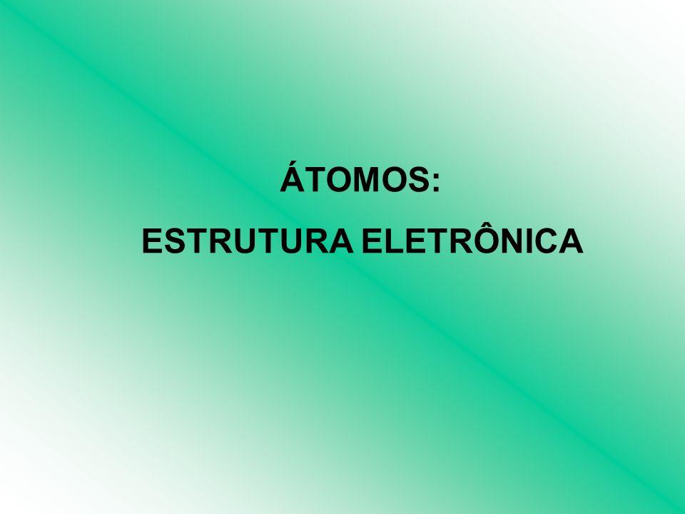ÁTOMOS: ESTRUTURA ELETRÔNICA