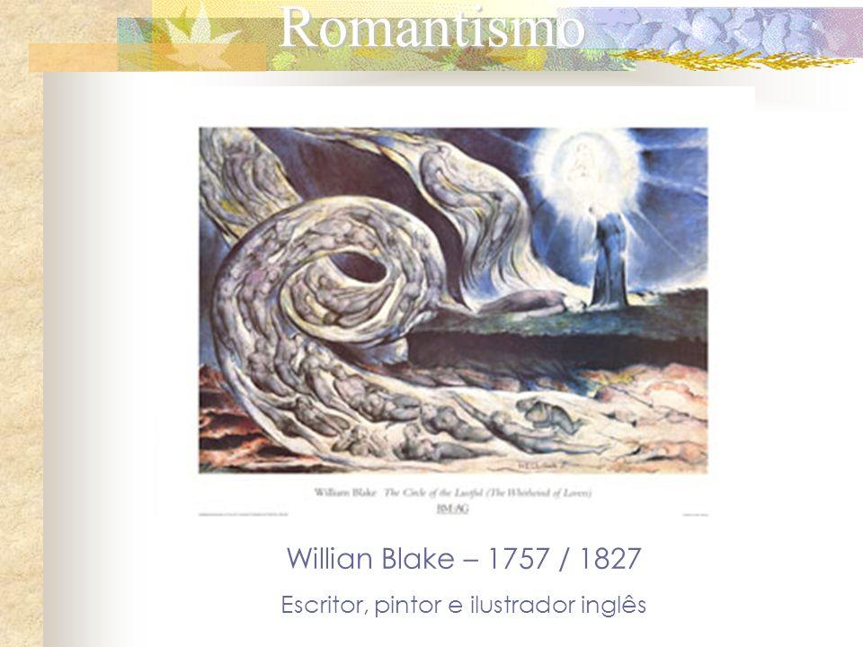 Romantismo Willian Blake – 1757 / 1827 Escritor, pintor e ilustrador inglês