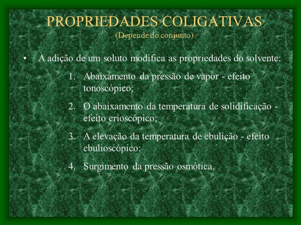 Não Existe Solução Ideal Para soluções reais deve ser utiliuzada a atividade no lugar da fração molar ATIVIDADE (fugacidade, é uma medida do potencial