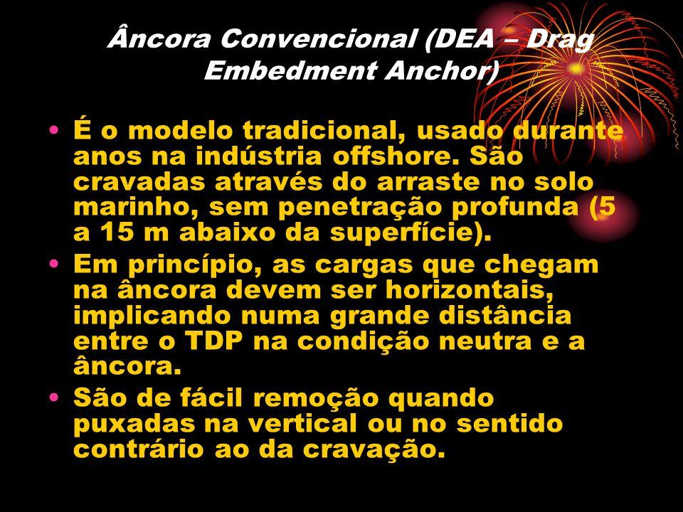 Âncora Convencional (DEA – Drag Embedment Anchor) É o modelo tradicional, usado durante anos na indústria offshore. São cravadas através do arraste no
