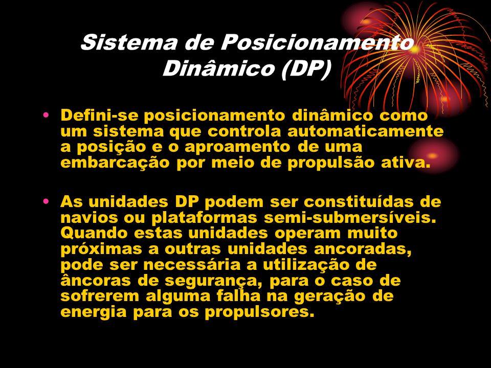 Sistema de Posicionamento Dinâmico (DP) Defini-se posicionamento dinâmico como um sistema que controla automaticamente a posição e o aproamento de uma