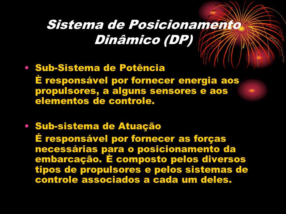 Sistema de Posicionamento Dinâmico (DP) Sub-Sistema de Potência È responsável por fornecer energia aos propulsores, a alguns sensores e aos elementos
