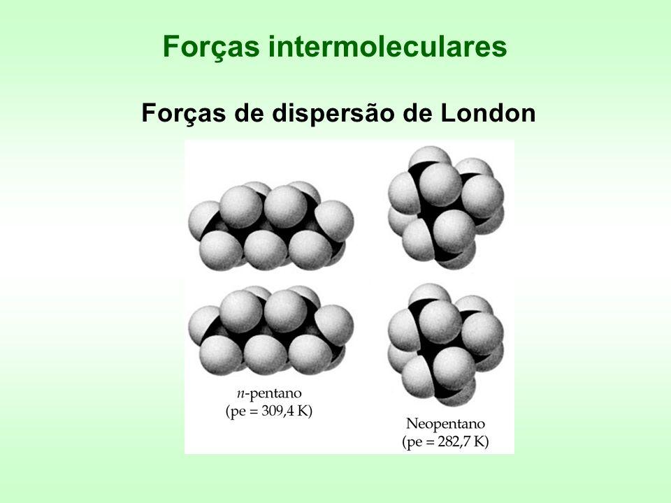 Forças de dispersão de London Forças intermoleculares