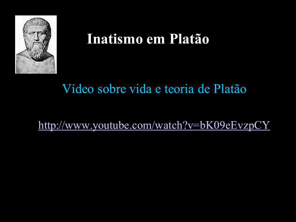 Inatismo em Platão Vídeo sobre vida e teoria de Platão http://www.youtube.com/watch?v=bK09eEvzpCY