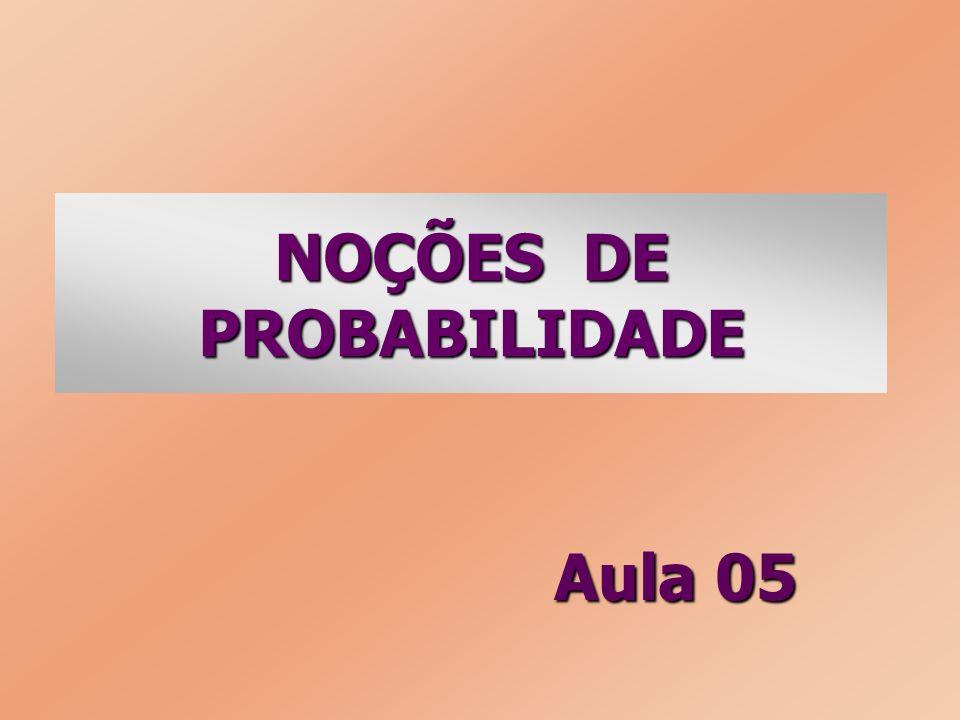 NOÇÕES DE PROBABILIDADE Aula 05
