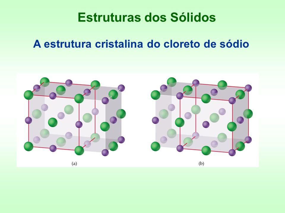 A estrutura cristalina do cloreto de sódio