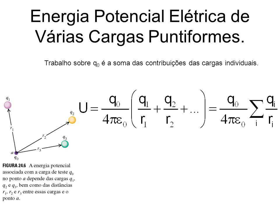 Energia Potencial Elétrica de Várias Cargas Puntiformes.