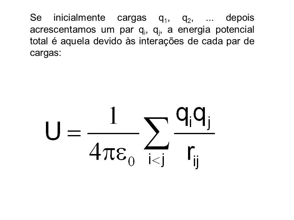 Gradiente de Potencial Para qualquer intervalo a até b, o que leva a: