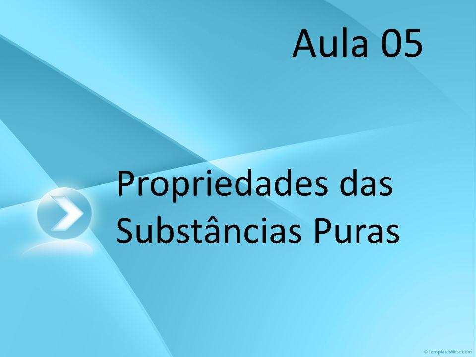 Propriedades das Substâncias Puras Aula 05