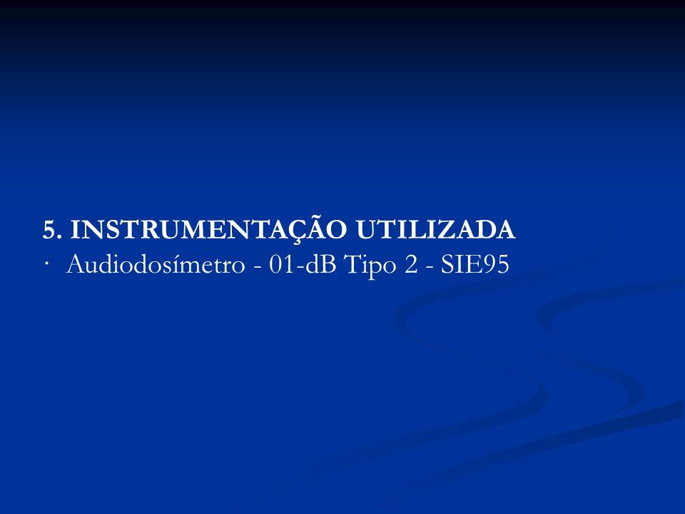 5. INSTRUMENTAÇÃO UTILIZADA · Audiodosímetro - 01-dB Tipo 2 - SIE95