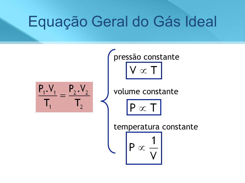 Equação Geral do Gás Ideal pressão constante volume constante temperatura constante
