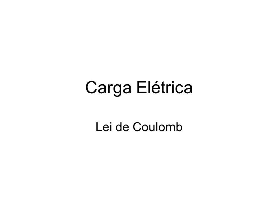 Carga Elétrica Lei de Coulomb