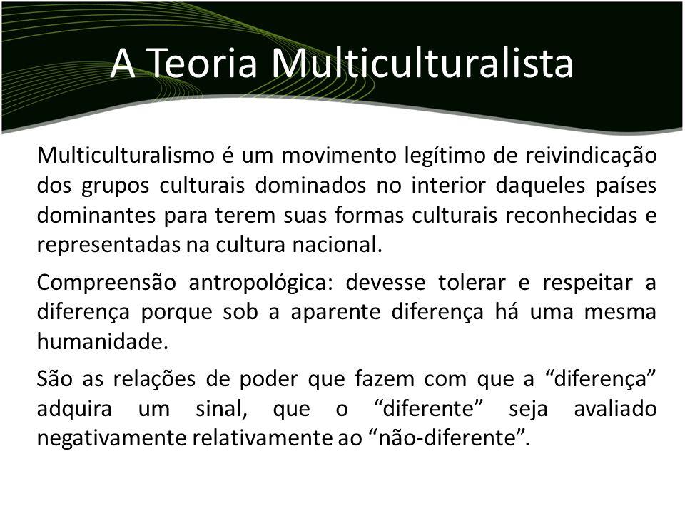 Multiculturalismo é um movimento legítimo de reivindicação dos grupos culturais dominados no interior daqueles países dominantes para terem suas forma