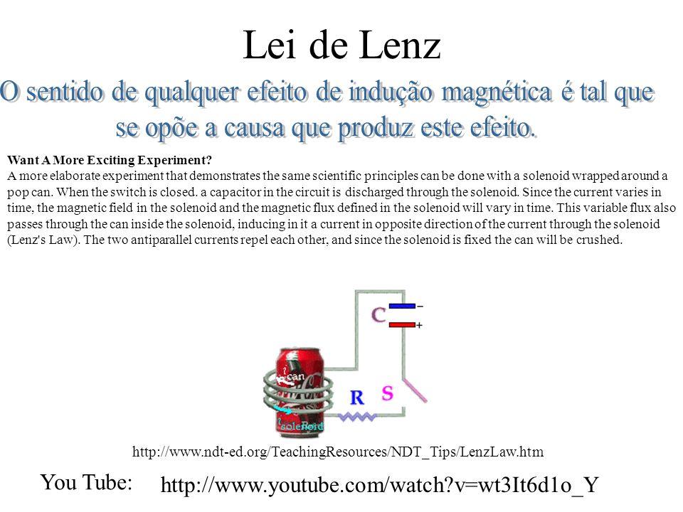 Lei de Lenz Want A More Exciting Experiment.