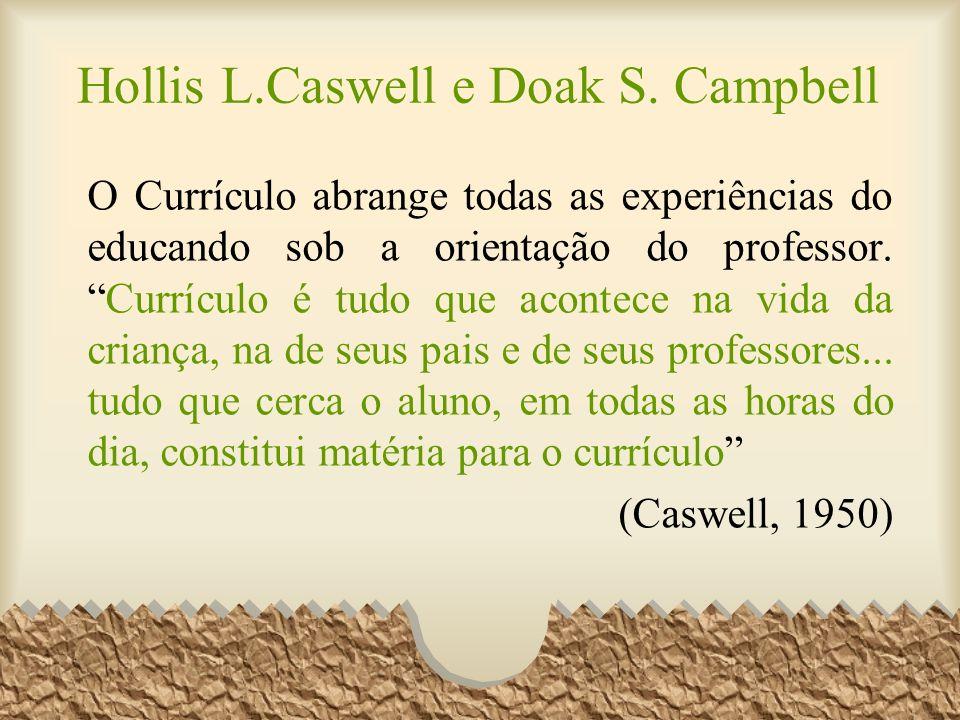 O Currículo abrange todas as experiências do educando sob a orientação do professor.Currículo é tudo que acontece na vida da criança, na de seus pais
