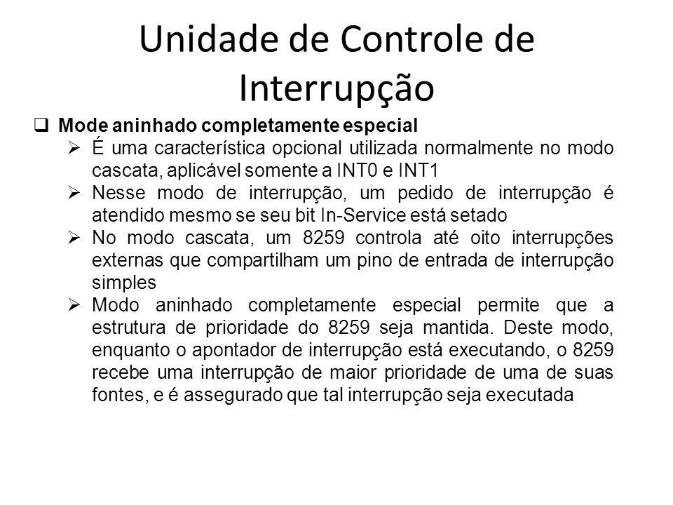 Unidade de Controle de Interrupção Mode aninhado completamente especial É uma característica opcional utilizada normalmente no modo cascata, aplicável