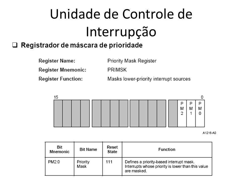 Unidade de Controle de Interrupção Registrador de máscara de prioridade