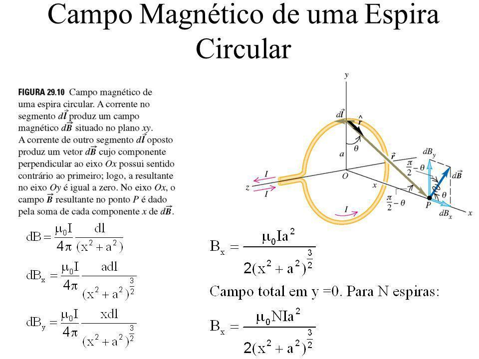 Campo Magnético de uma Espira Circular