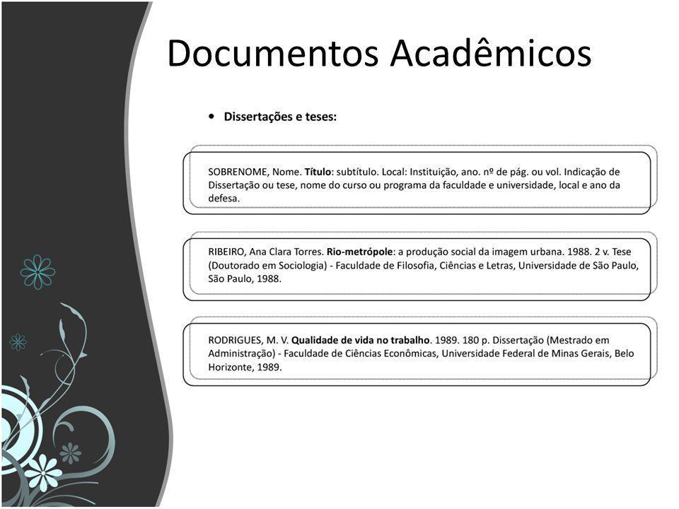 Documentos Acadêmicos
