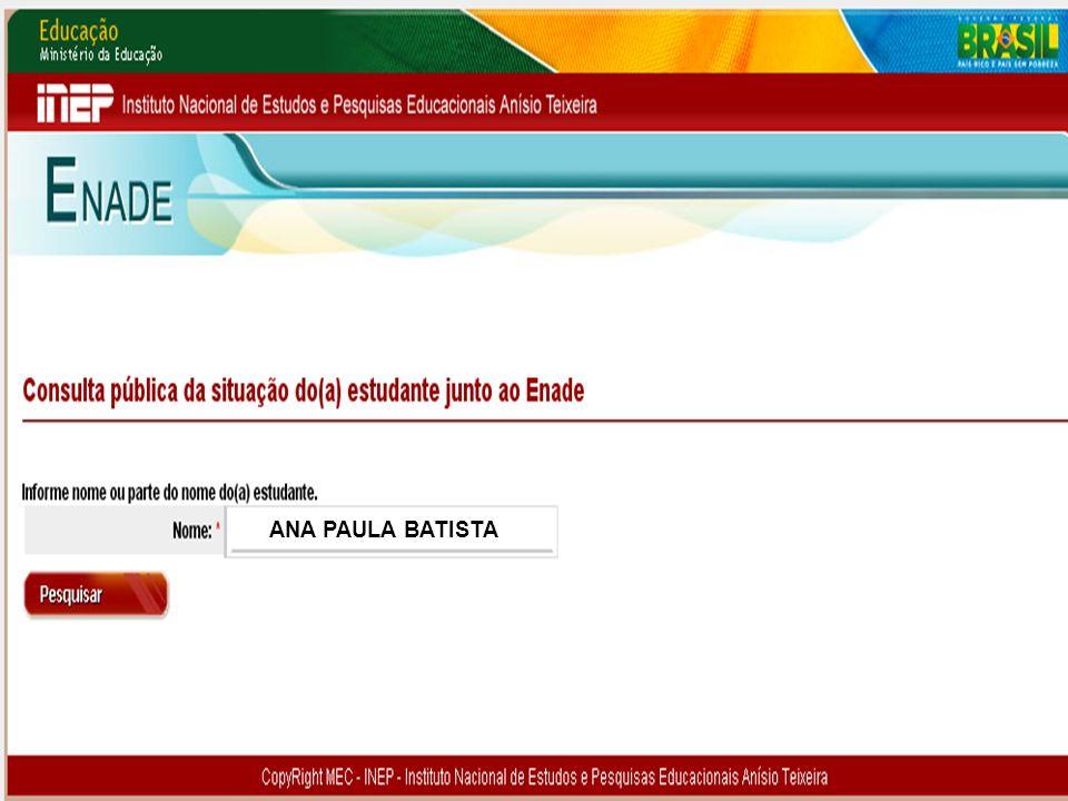 96 MEC – INEP – DAES – CGENADE – Enade 2011 – Questões Operacionais Reabrir Inscrições