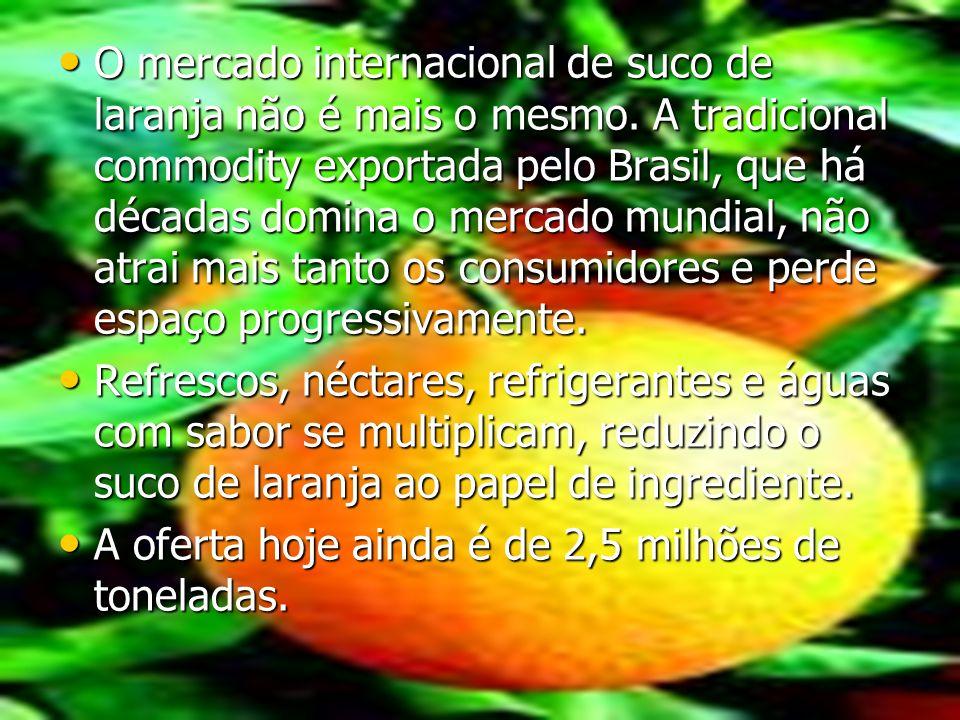 O mercado internacional de suco de laranja não é mais o mesmo. A tradicional commodity exportada pelo Brasil, que há décadas domina o mercado mundial,