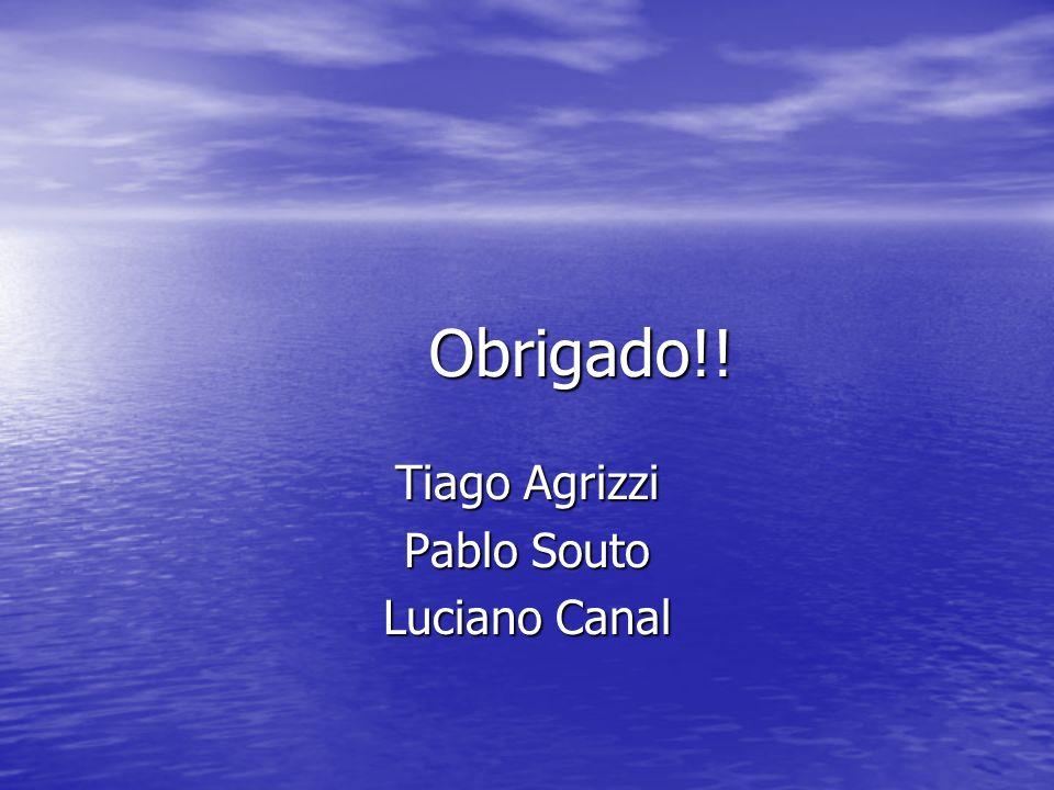 Obrigado!! Tiago Agrizzi Pablo Souto Luciano Canal