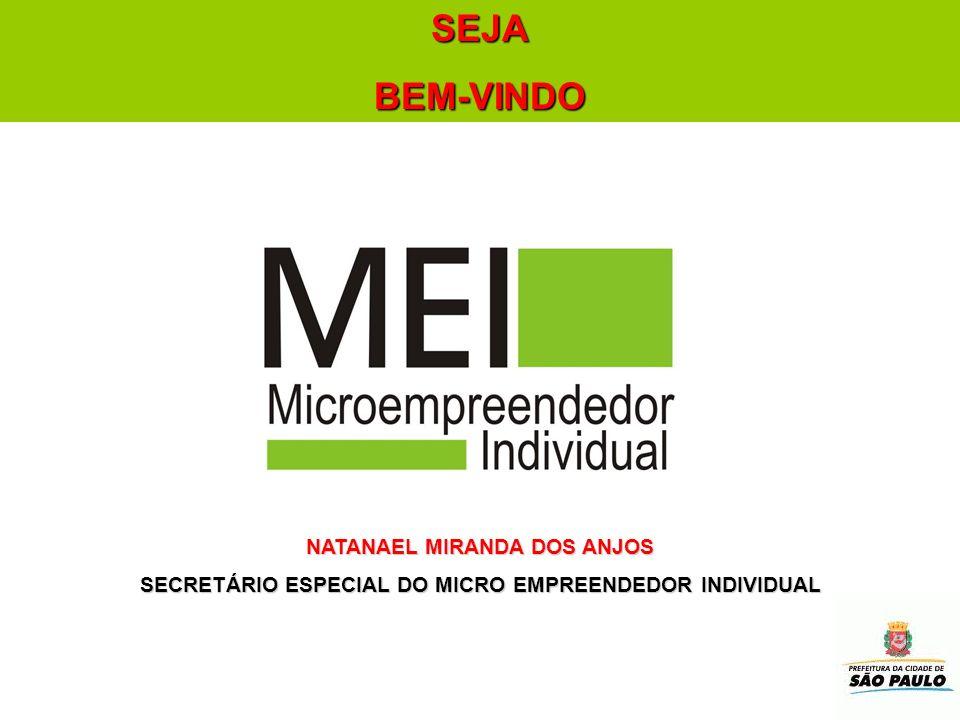 NATANAEL MIRANDA DOS ANJOS SECRETÁRIO ESPECIAL DO MICRO EMPREENDEDOR INDIVIDUAL SEJABEM-VINDO