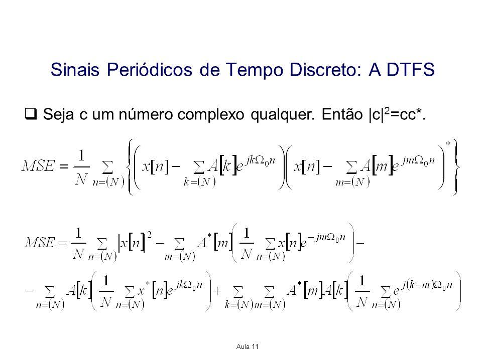 Aula 11 Seja c um número complexo qualquer.Então  c  2 =cc*.