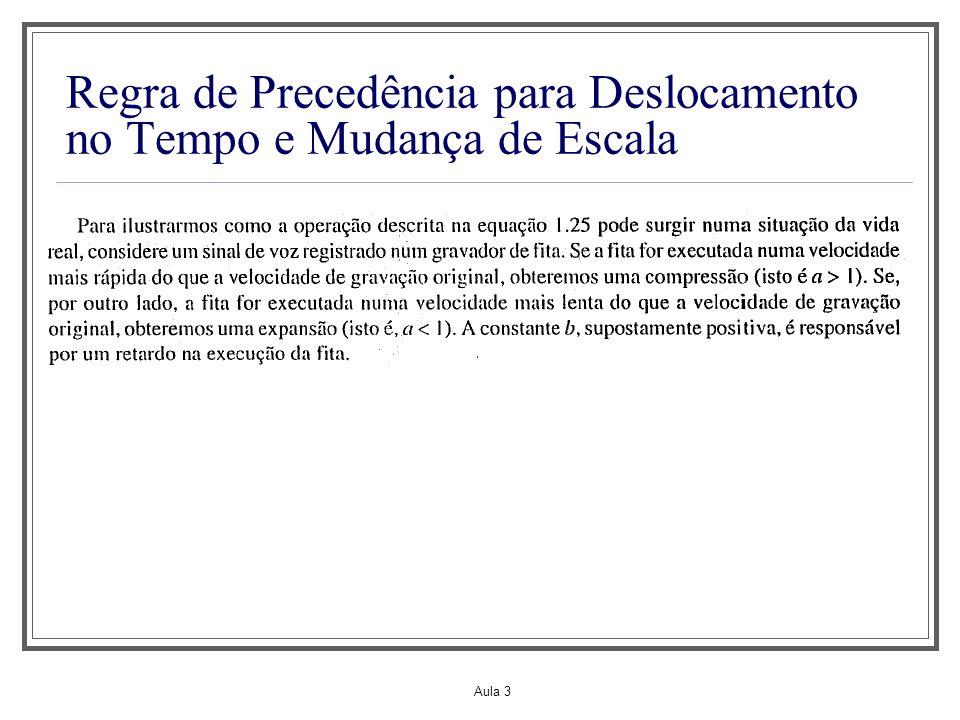 Aula 3 Regra de Precedência para Deslocamento no Tempo e Mudança de Escala