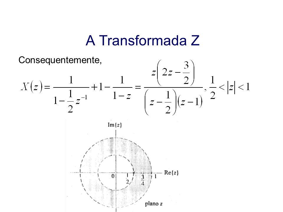 Aula 19 A Transformada Z Consequentemente,