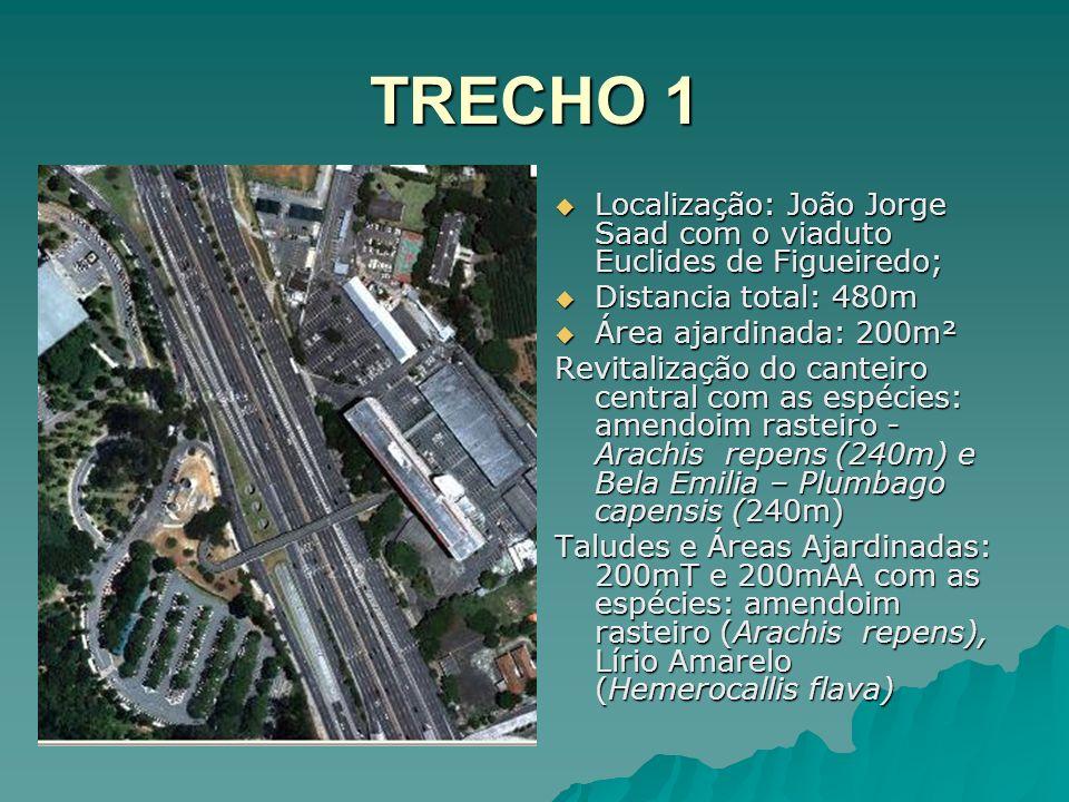TRECHO 1 Localização: João Jorge Saad com o viaduto Euclides de Figueiredo; Localização: João Jorge Saad com o viaduto Euclides de Figueiredo; Distanc