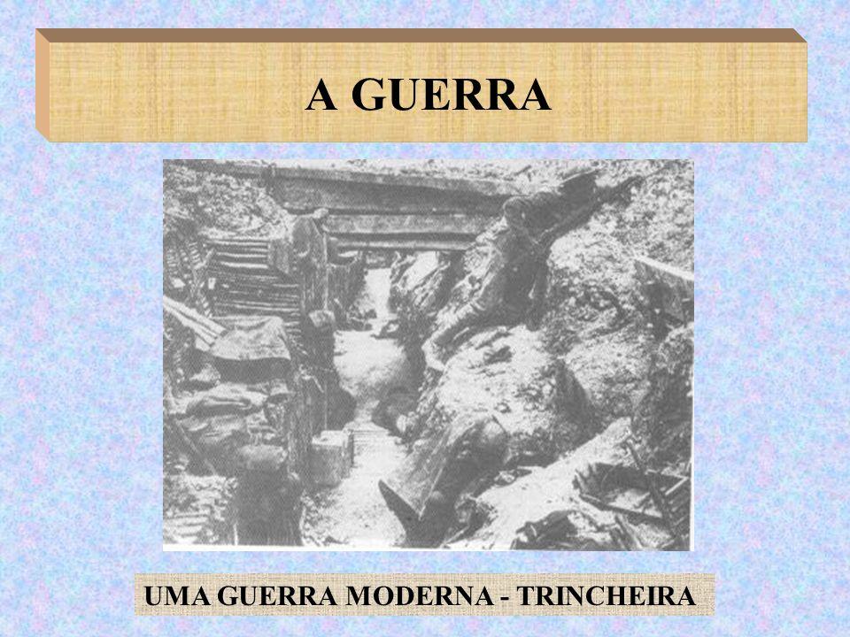 A GUERRA UMA GUERRA MODERNA - TRINCHEIRA