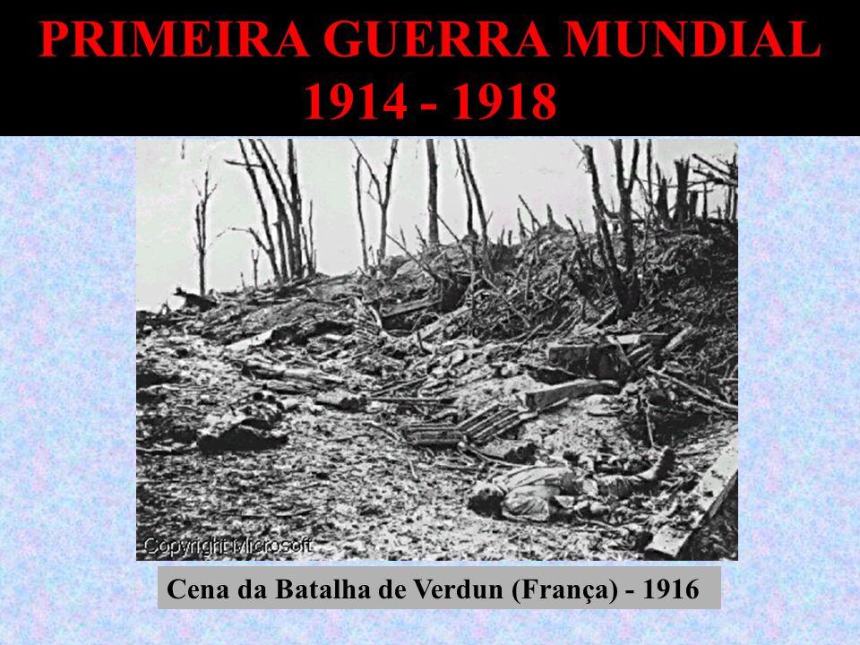 PRIMEIRA GUERRA MUNDIAL 1914 - 1918 Cena da Batalha de Verdun (França) - 1916