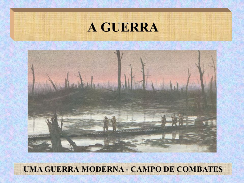 A GUERRA UMA GUERRA MODERNA - CAMPO DE COMBATES