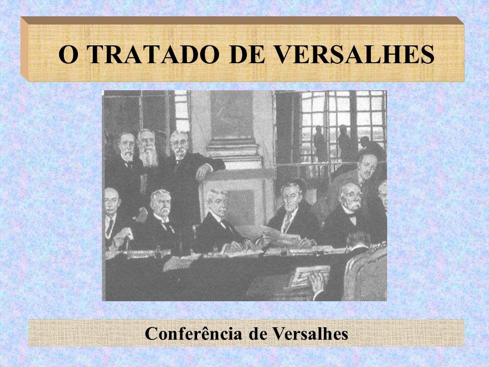 O TRATADO DE VERSALHES Conferência de Versalhes