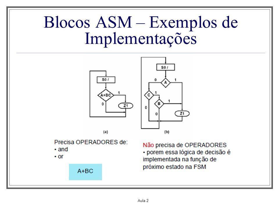 Aula 2 Blocos ASM – Exemplos de Implementações