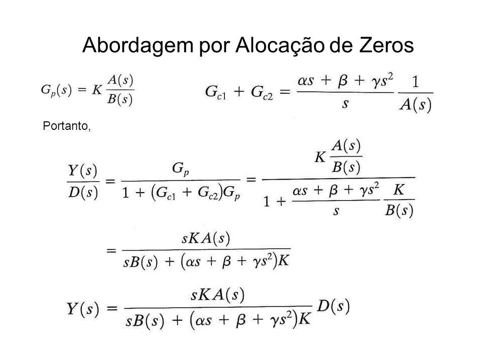 Abordagem por Alocação de Zeros Portanto,
