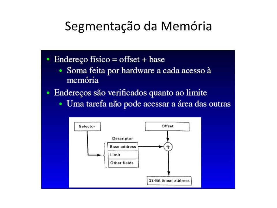 O Seletor e o Descritor de segmento são controlados pelo sistema operacional O Offset é controlado pelo programa de aplicação Normalmente o Descritor de segmento possui alguns bits associados para determinação de características de proteção do segmento, isto é, permissões para leitura, escrita e/ou execução Um Cache de Descritor de segmento evita dois acessos simultâneos à memória