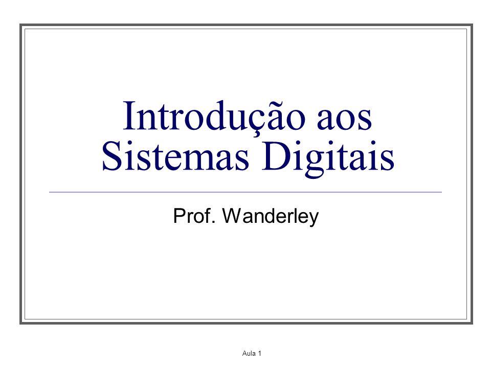 Aula 1 Introdução aos Sistemas Digitais Prof. Wanderley