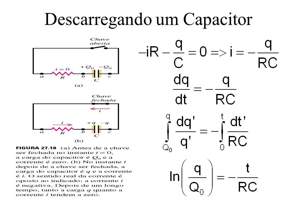 RC é a chamada constante de tempo, fornece uma medida da velocidade de carga do capacitor.
