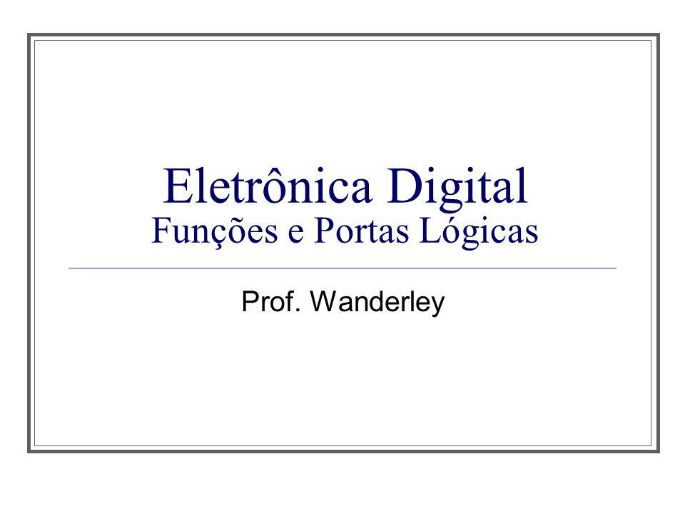 Eletrônica Digital Funções e Portas Lógicas Prof. Wanderley