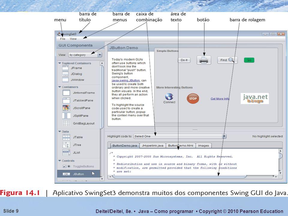 Deitel/Deitel, 8e. Java – Como programar Copyright © 2010 Pearson Education Slide 40