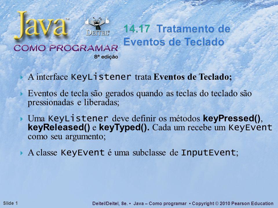 Deitel/Deitel, 8e. Java – Como programar Copyright © 2010 Pearson Education Slide 22