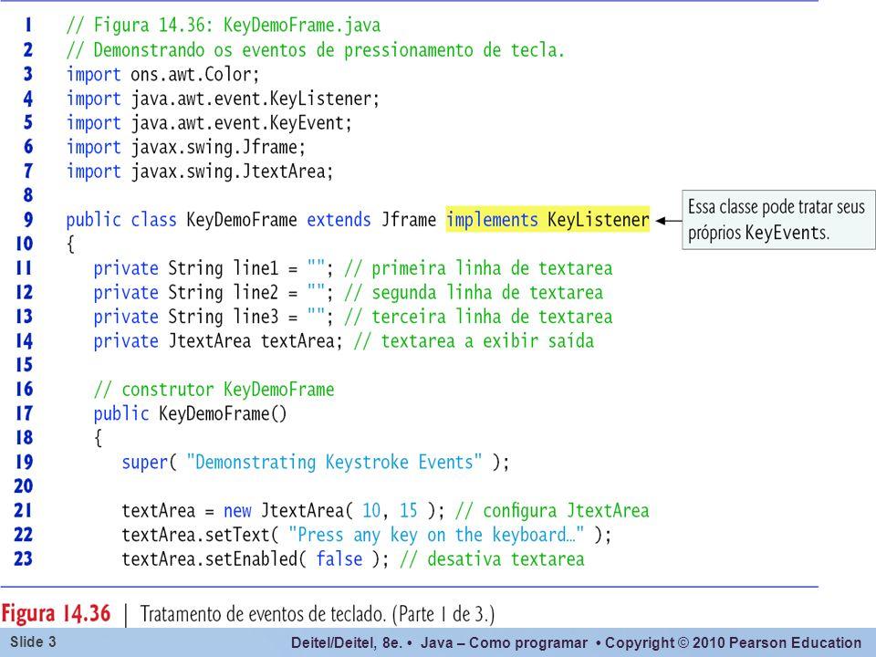 Deitel/Deitel, 8e. Java – Como programar Copyright © 2010 Pearson Education Slide 14